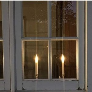 Set of 10 Battery Operated Candles, with Timer